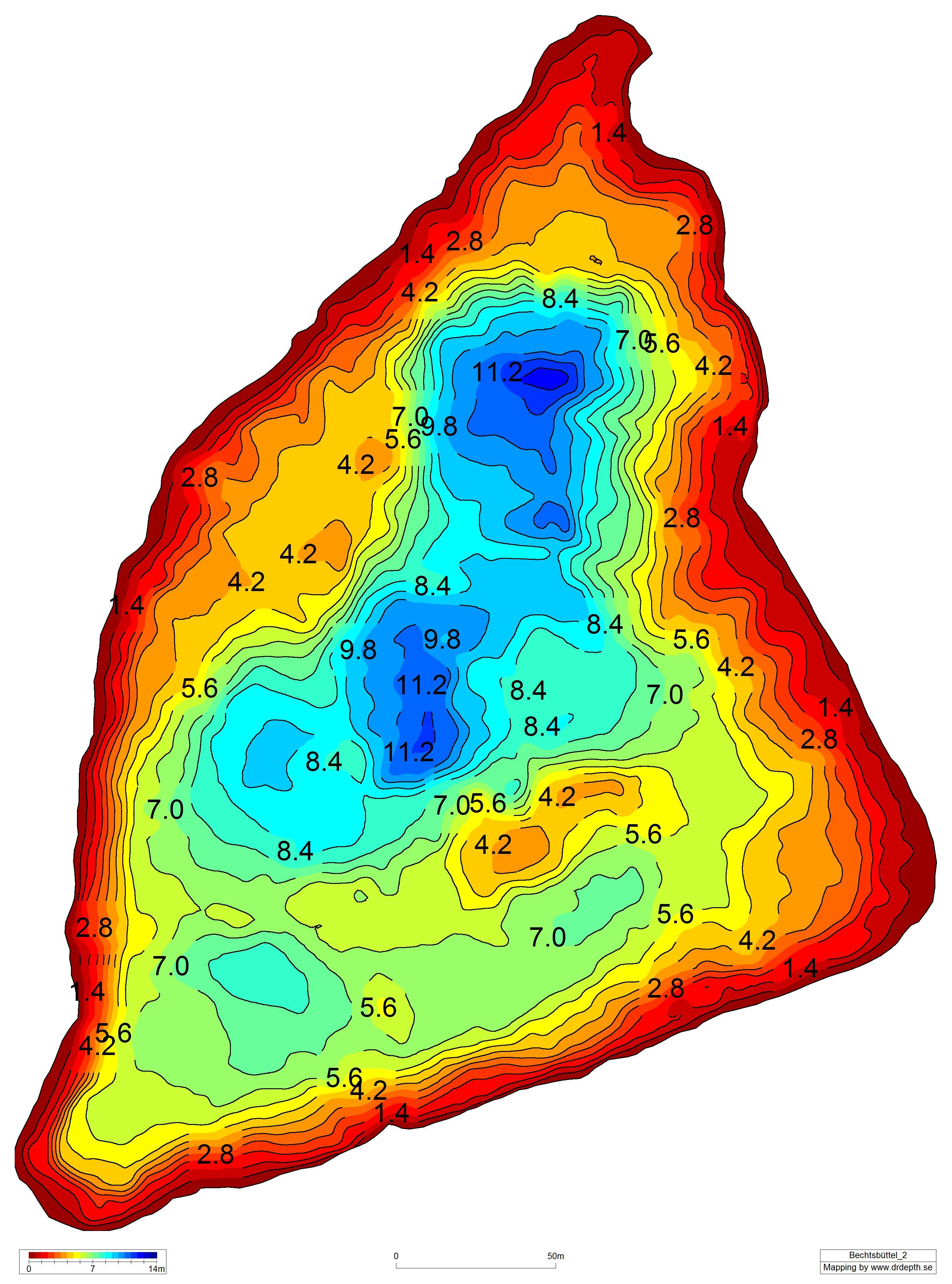Meer tiefenkarte steinhuder Meerkarte vom